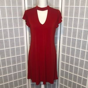 Signature studio red lightweight dress size medium